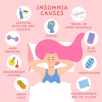 El insomnio causa ilustración