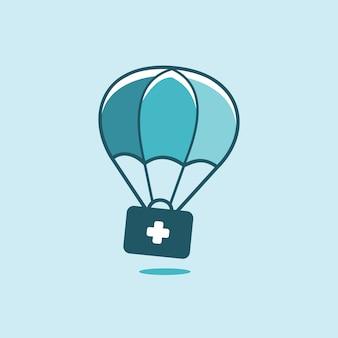 Inspiración del logotipo de soporte médico