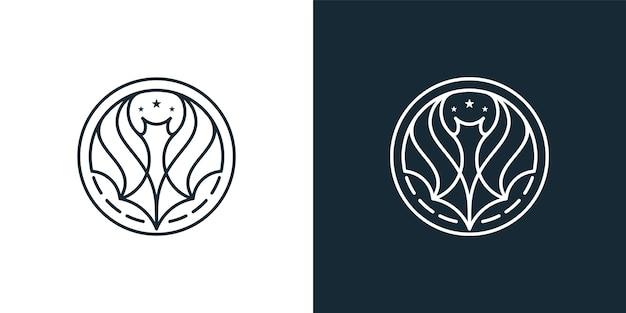 Inspiración para el diseño del logo de bat line art
