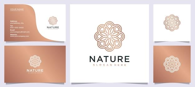Inspiración de diseño de logotipo de belleza floral para salón