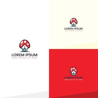 Inspiración de diseño de logotipo de la casa de setas
