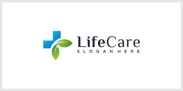 Inspiración de diseño de logotipo de cuidado de vida orgánico premium