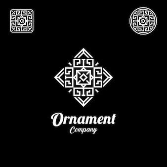 Inspiración de diseño de logotipo de elegante patrón de línea de lujo