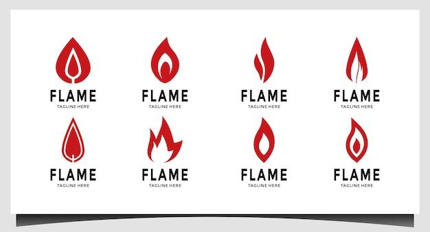 Inspiración para el diseño del logotipo de fire flame
