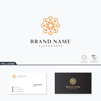 Inspiración de diseño de logotipo de flor abstracta