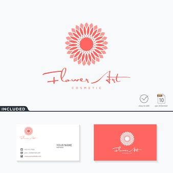 Inspiración del diseño del logotipo de la flor