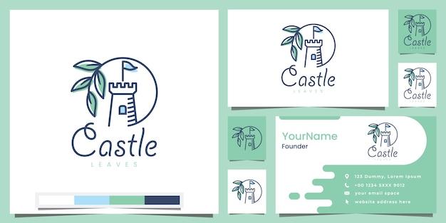 Inspiración en el diseño del logotipo de las hojas del castillo