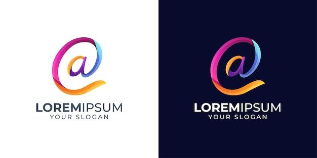 Inspiración de diseño de logotipo de letra a colorida
