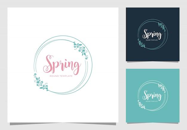 Inspiración de diseño de logotipo de marco floral