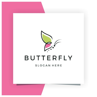 Inspiración de diseño de logotipo de mariposa