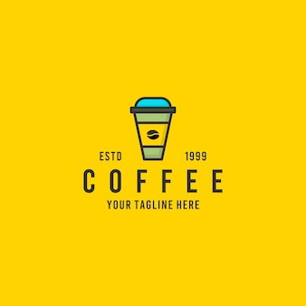 Inspiración de diseño de logotipo minimalista de café