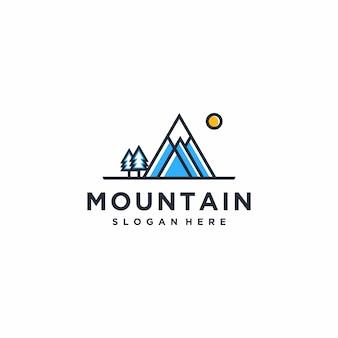 Inspiración de diseño de logotipo de montaña fresca, minimalista, ideas, concepto moderno, premium