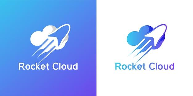 Inspiración para el diseño del logotipo de la nube de cohetes