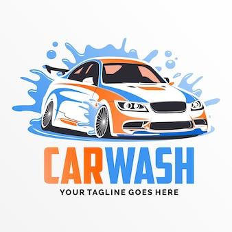Inspiración del diseño del logotipo del túnel de lavado