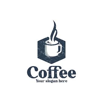 Inspiración de diseño de logotipo vintage de cafetería