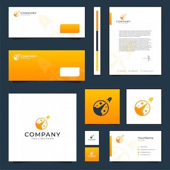 Inspiración en el diseño de papelería de la marca espacial inspiración