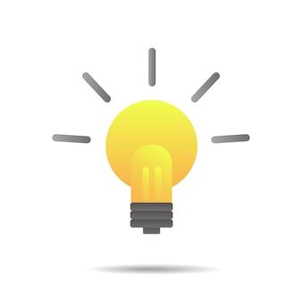 Inspiración de grandes ideas, bombilla