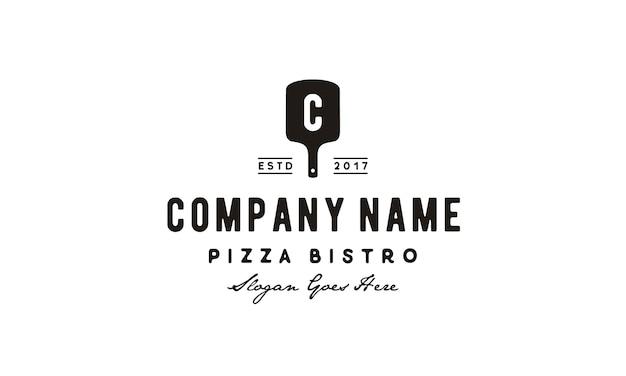 Inspiración de logo vintage pizza