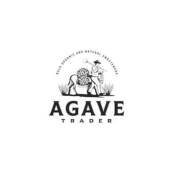 Inspiración del logotipo de agave trader