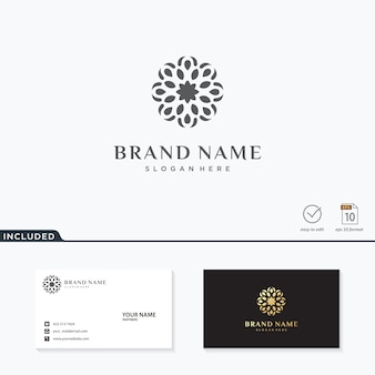 Inspiración de logotipo de flor abstracta