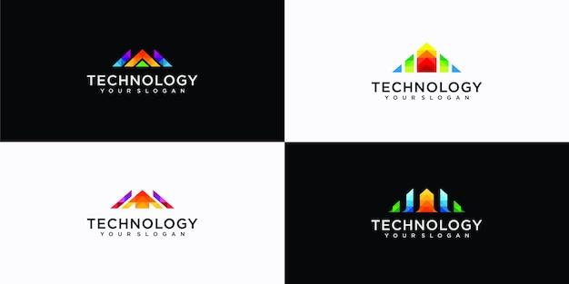Inspiraciones en el diseño de logotipos geométricos de la letra a.