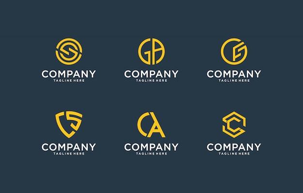 Inspirador logotipo moderno paquete