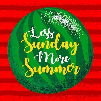 Inspirar la cita tipográfica de verano