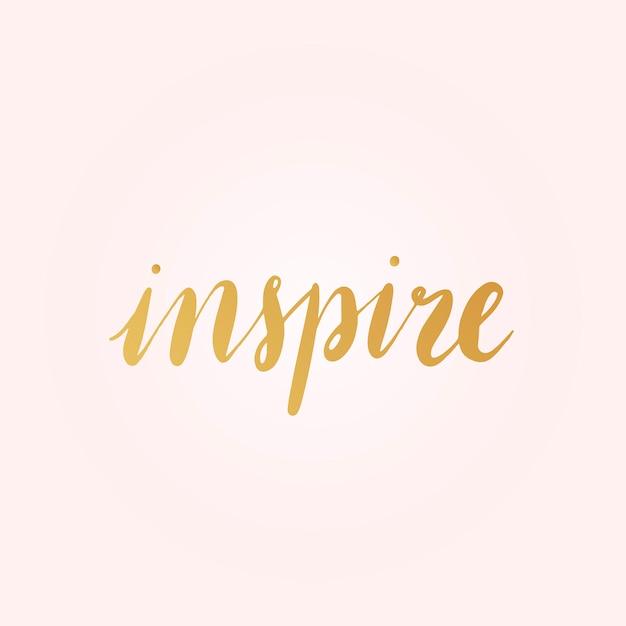 Inspirar palabra tipografía estilo vector