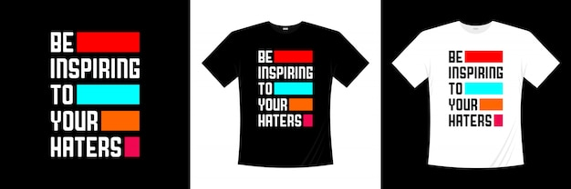 Inspire a su diseño de camiseta de tipografía de enemigos
