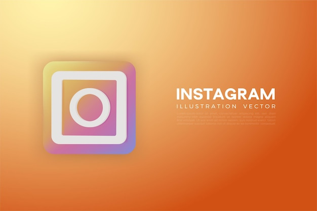 Instagram 3d colorido