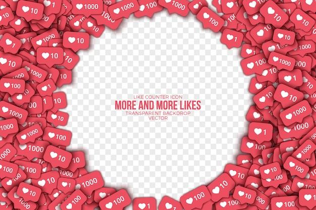 Instagram como fondo abstracto de iconos de contador