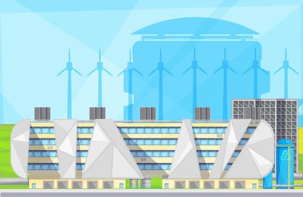 Instalaciones de plantas ecológicas con tecnología de conversión de conversión de residuos a energía.
