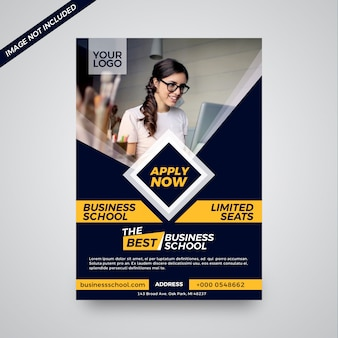 Instituto educativo atractivo diseño de folletos.