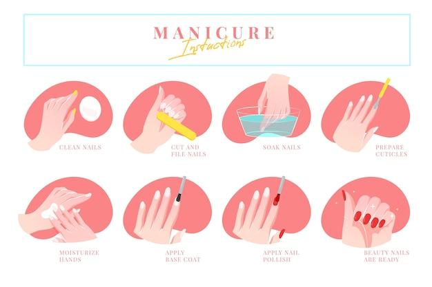 Instrucciones de manicura