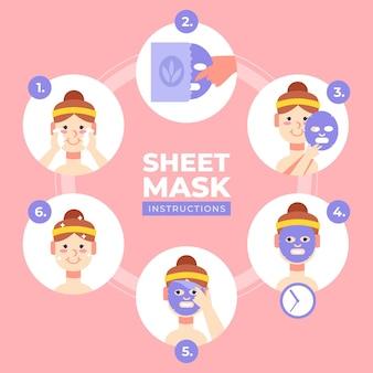 Instrucciones de la máscara de hoja