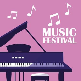 Instrumento clásico de piano