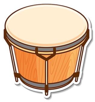 Instrumento musical de tambor de la etiqueta engomada