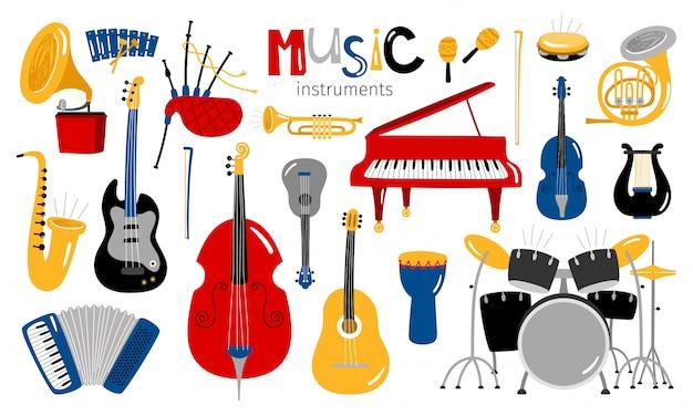 Instrumentos musicales de dibujos animados