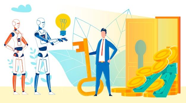 Inteligencia artificial asesoramiento tratando con el dinero.