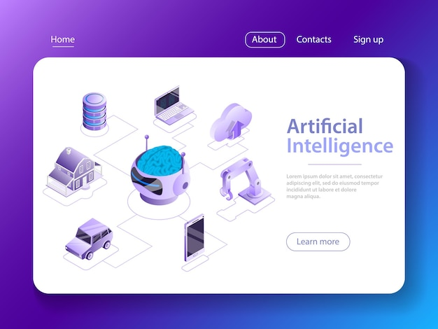 Inteligencia artificial, big data, cyber mind, machine learning, cerebro digital, cyberbrain.