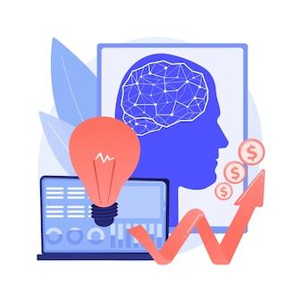 Inteligencia artificial en la financiación de la ilustración del concepto abstracto