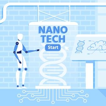 Inteligencia artificial y nano tecnología metáfora
