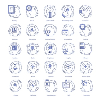 Inteligencia vector icons pack