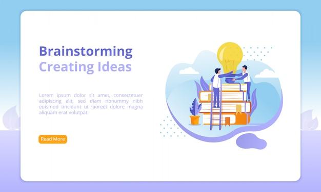Intercambio de ideas o creación de ideas en el sitio web
