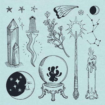 Interesante colección de elementos esotéricos