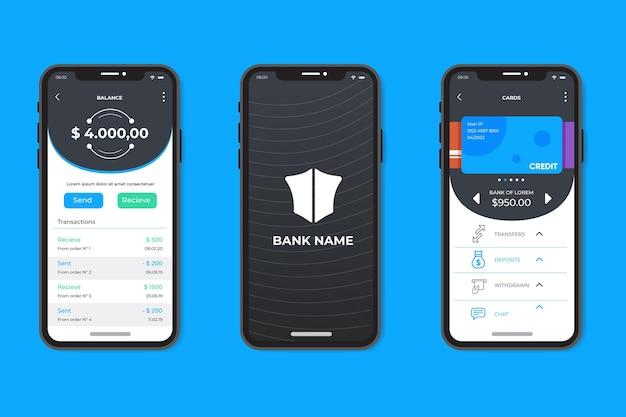 Interfaz de aplicación de banca minimalista