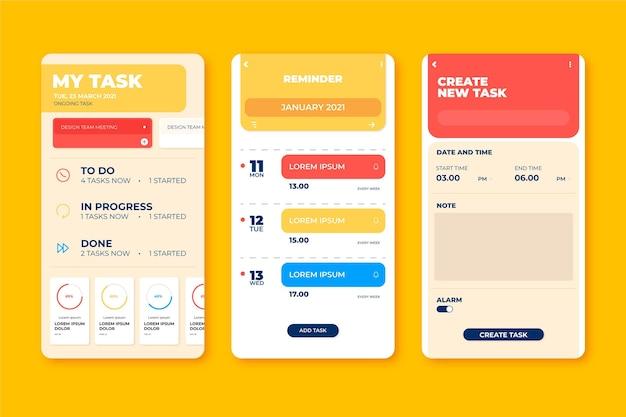 Interfaz de la aplicación de gestión de tareas