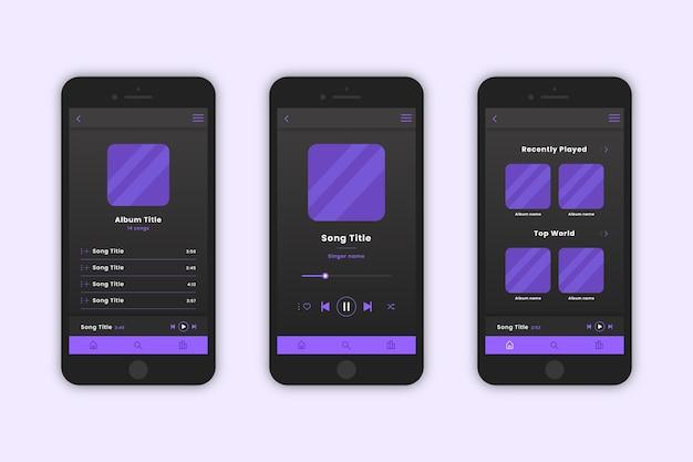 Interfaz de aplicación del reproductor de música