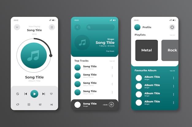 Interfaz para la aplicación del reproductor de música