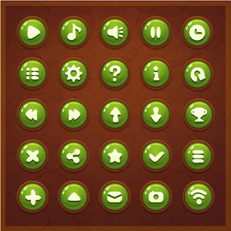 Interfaz de botones de juego ui